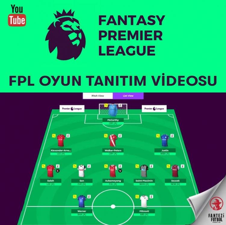 Fantasy Premier League (FPL) Oyun Tanıtım Videosu