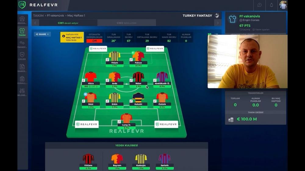 Yeni Fantezi Futbol Oyunu Tanıtımı   RealFevr